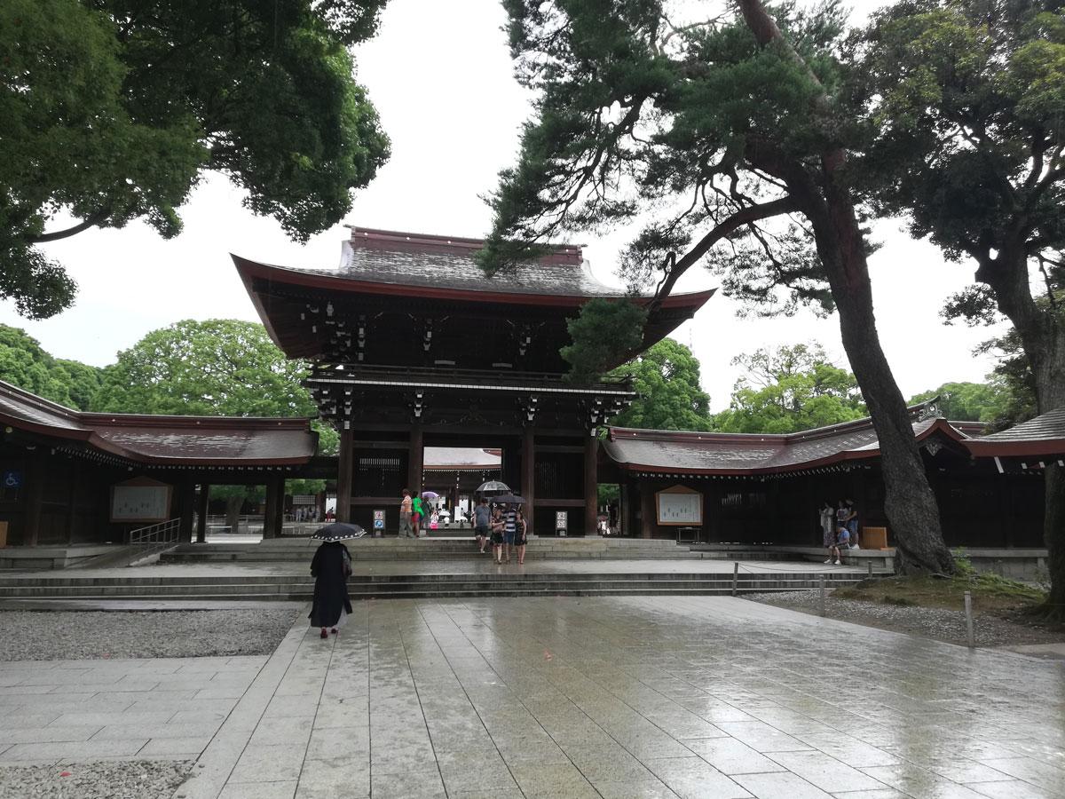 Dans l'enceinte de Meiji-jingu.
