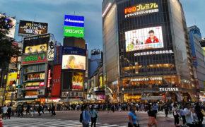 Photo du croisement de Shibuya à Tokyo.